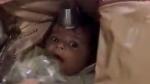 అయిదేళ్ల చిన్నారి కిడ్నాప్: ట్రావెల్ బ్యాగులో కుక్కి పట్టుకెళ్లిన దుండగుడు
