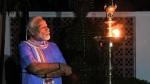 మోదీ జ్యోతి ప్రజ్వలన.. సంస్కృత శ్లోకంతో ఫోటోలు షేర్ చేసిన ప్రధాని