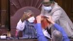 మైక్ విరగొట్టి.. ప్రతులు చించేసి - ప్రతిపక్షాల నిరసనల మధ్యే రాజ్యసభలో వ్యవసాయ బిల్లులకు ఆమోదం