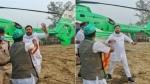 తేజశ్వి యాదవ్ హెలికాప్టర్ చుట్టూ భారీగా జనం: భద్రత పెంచాలంటూ ఆర్జేడీ వినతి