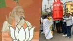 మోదీకి షాకిచ్చిన దీదీ -బీజేపీ లూటీ చేస్తోంది -ప్రధాని సభ వేళ ఎల్పీజీ ధరలపై బెంగాల్ సీఎం నిరసన