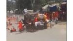 షాకింగ్ వీడియో : ఛత్తీస్ ఘడ్ లో భయానకం- భక్తులపై దూసుకెళ్లిన కారు-తీవ్ర ఉద్రిక్తత