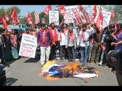 ఒబామా రాక: హైదరాబాద్లో గో బ్యాక్ నినాదాలు, దగ్ధం (పిక్చర్స్)