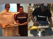 బిగ్ బీకి బ్యాట్ గిఫ్ట్: 'ఆశ్చర్యం.. గేల్ నా అభిమానా'