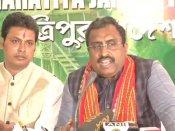 మాతా త్రిపుర సుందరి, ప్రజల ఆశీస్సులతో బీజేపీ గెలుపు: రామ్ మాధవ్