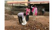 హుజూర్నగర్లో టీఆర్ఎస్ గెలుపు: బెజవాడ దుర్గమ్మకు 101 కొబ్బరికాయలు