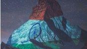 కరోనా పోరులో వెలుగు బావుటా: స్విస్ ఆల్ప్ప్ పర్వతాలపై మెరిసిన త్రివర్ణ పతాకం: ప్రపంచం..సలాం