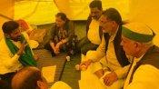 ఢిల్లీలో రైతుల శిబిరానికి రేవంత్ రెడ్డి -ఉద్యమానికి కాంగ్రెస్ ఎంపీ మద్దతు -మార్చిలో తెలంగాణకు టికాయత్