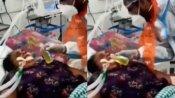 Viral Video:వెంటిలేటర్పై ఉన్న మహిళకు గోమూత్రమా..? బీజేపీ నేత నిర్వాకం