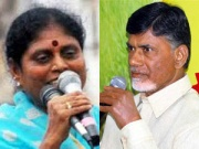 YS Vijayamma and Chandrababu Naidu