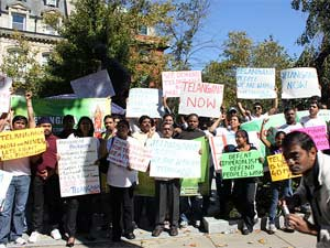 NRIs formTelangana Rally in Washington D.C