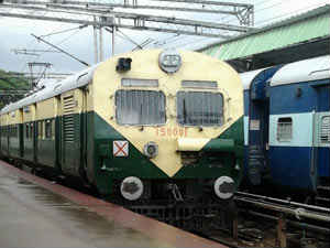 Rajadhani express escapes from accident