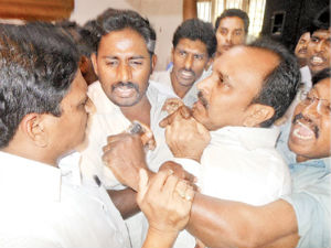 YSRCP leader Rajababu attacked