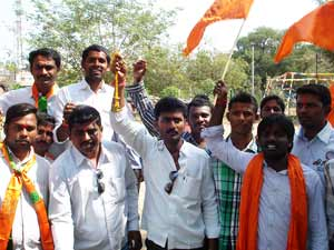 Bajrang Dal activists perform marriage of couple