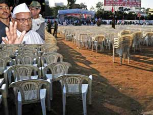 Poor rally turnout disappoints Anna