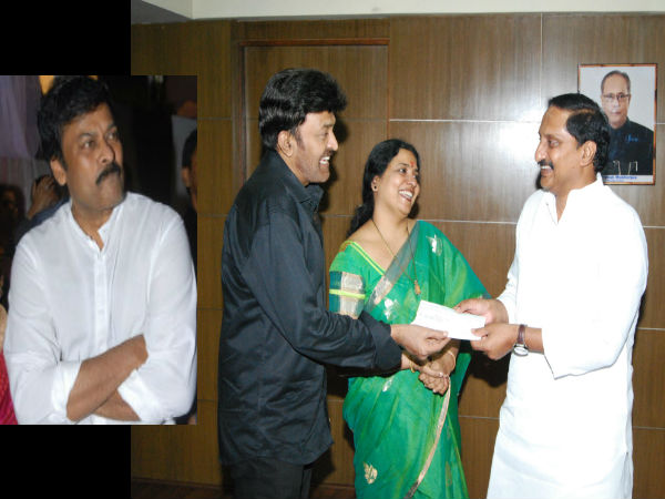 Chiranjeevi condemns blasts: Rajasekhar gives Rs.5 lakh to CM relief fund