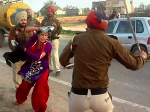 Woman beaten in Punjab