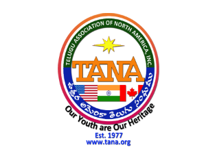 TANA Convention in Dallas to unite Telugu Literary Stalwarts