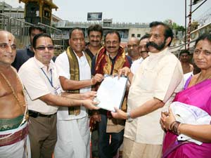 Crores of rupees donated by NRIs for Tirumala