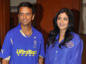 Rahul Dravid and Shilpa Shetty