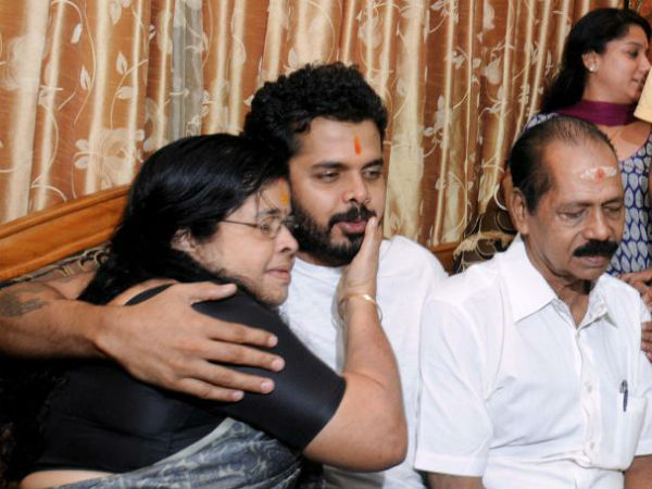 Sreesanth returns home