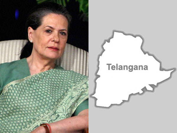 Sonia Gandhi and Telangana