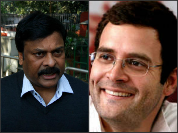 Rahul Gandhi promices key post to Chiranjeevi