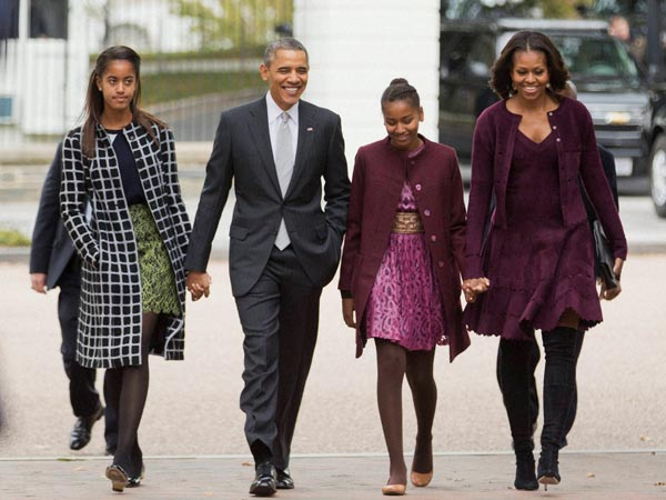 Barack Obama's daughters followed, White House locked down for 1 hour