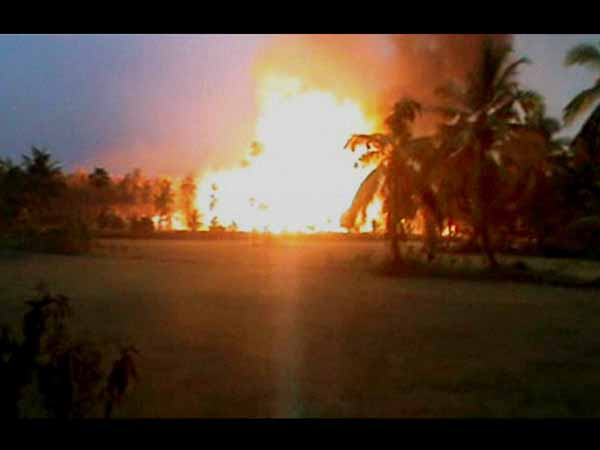 15 people burnt alive in Andhra gas pipeline explosion