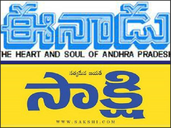 Telugu language in daily news papers