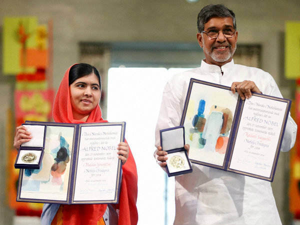 Resolution in US Senate to Honour Kailash Satyarthi, Malala Yousafzai