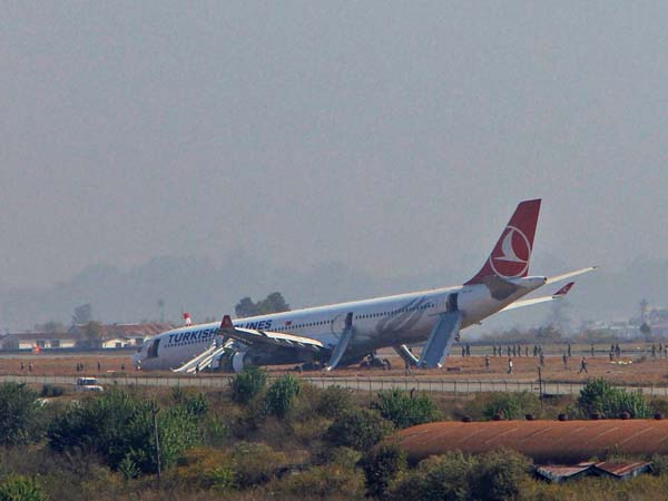 Turkish Airlines plane crash-lands in Nepal