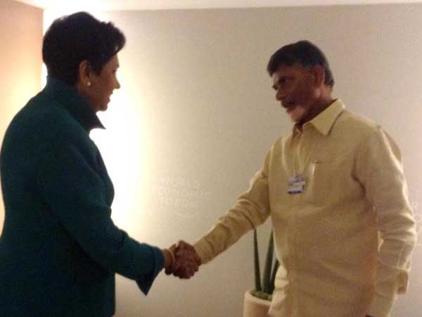 handrababu Naidu, Indra Nooyi visits PepsiCo facility at Sri City