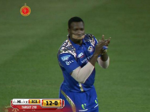 From Twitter: Reactions to Kieron Pollard's bizarre plastered mouth during RCB-MI match