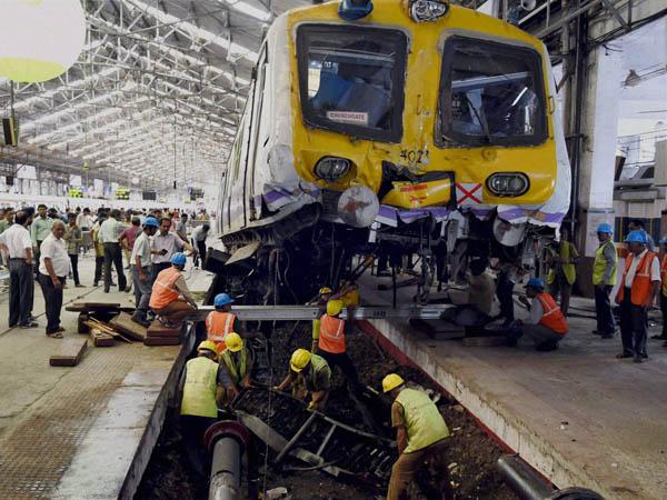 Mumbai Train Crashes Into Platform At Churchgate Station