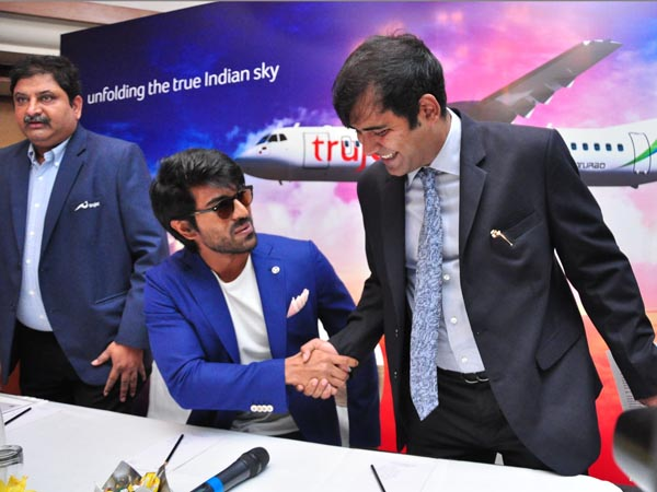 Chiranjeevi have been worshiped for Trujet flights