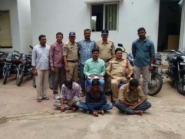 Bike Theft Gang Arrested By Uppal Police in Hyderabad