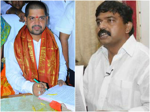 Perni Nani lashes out at minister Kollu Ravindra