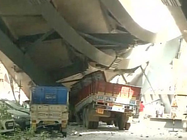 At least 10 killed as under construction flyover collapses in north kolkata