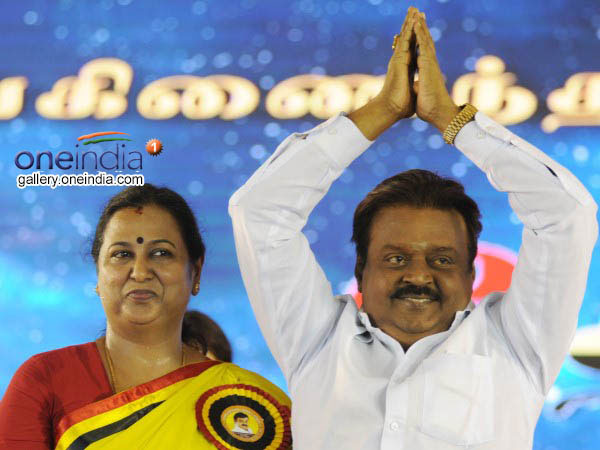 Vijayakant's wife booked for 'instigating' voters to accept