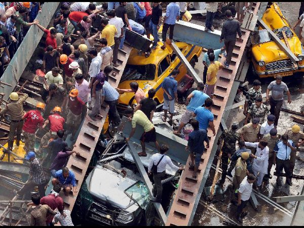 Political blame game over Kolkata flyover collapse, Mamata says construction began during CPM rule