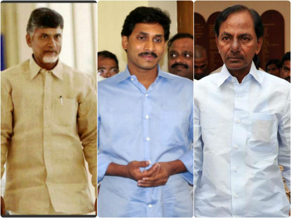 Image result for kcr jagan and chandrababu