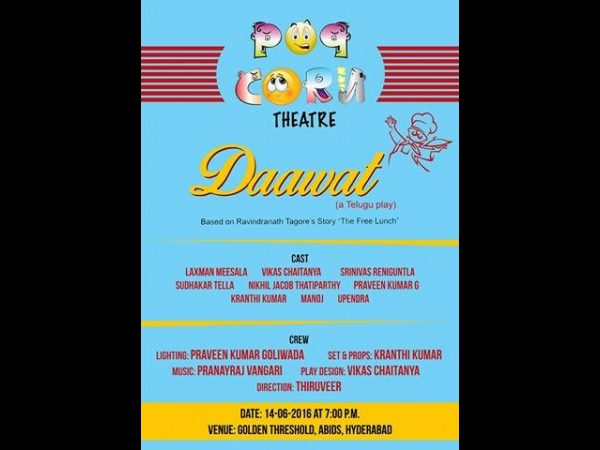 'Dawat..' a stage play in golden treshold