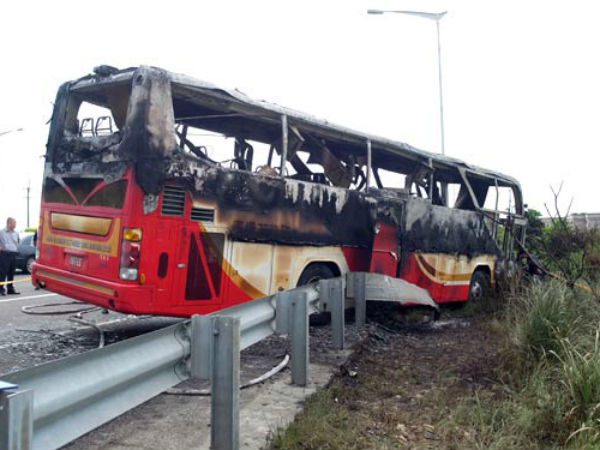 Taiwan tourist bus fire kills all 26 on board