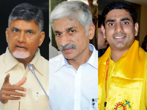 Chandrababu wants Nara Lokesh in Delhi to watch on Viajyasai?