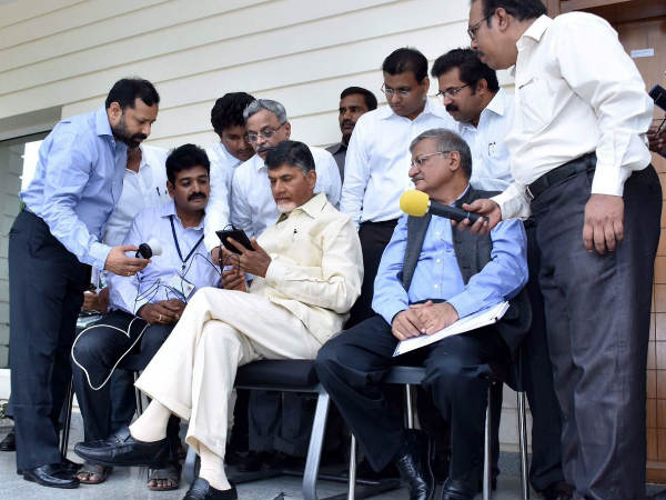 Chandrababu gives his personal details in Smart Pulse Survey