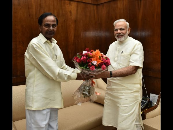 CM kcr meets with prime minister narendra modi