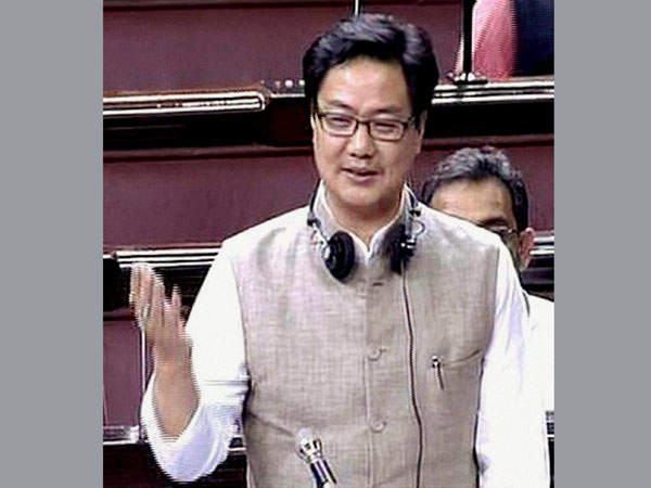 Central Minister Kiren Rijiju warns websites in Loksabha