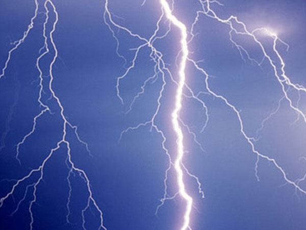 Cyclist 'is saved by his penis' after he is struck by lightning and the bolt 'earths itself through his genitals'