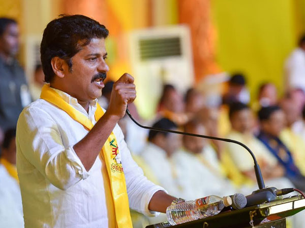 Revanth Reddy criticized BJP for giving 1st rank to CM KCR